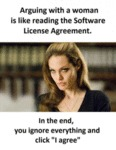 Arguing With A Woman Is Like Reading The Software