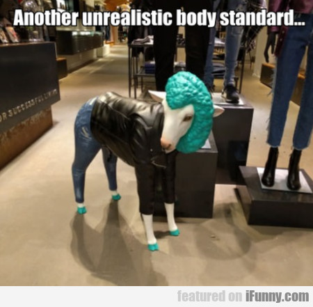 Another unrealistic body standard