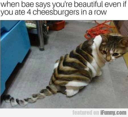 When Bae Says You're Beautiful Even If You Ate...