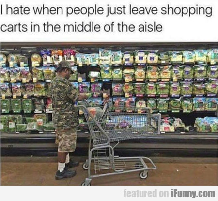 I Hate When People Just Leave Shopping Carts In...