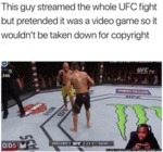 This Guy Streamed The Whole Ufc Fight But...