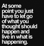 At Some Point You Just Have To Let Go...