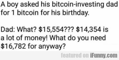 A Boy Asked His Bitcoin-investing Dad For 1...