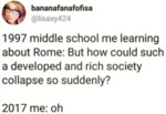 1997 Middle School Me Learning About Rome...