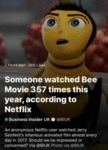 Someone Watched Bee Movie 357 Times This Year...
