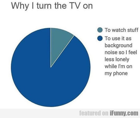 Why I Turn The Tv On - To Watch Stuff...
