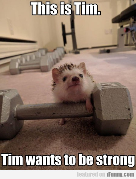 This Is Tim. Tim Wants To Be Strong