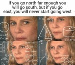 If You Go North Far Enough You Will Go South...