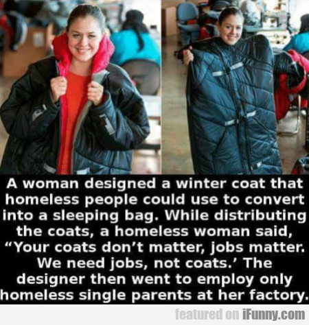 A Woman Designed A Winter Coat That Homeless...