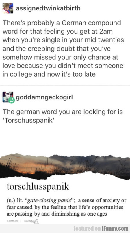 There's Probably A German Compound Word...