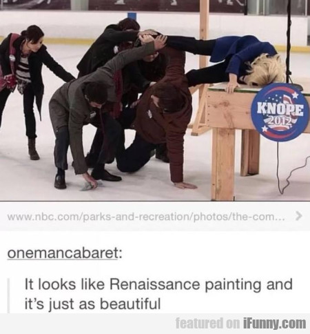 It Looks Like Reinassance Painting And It's...