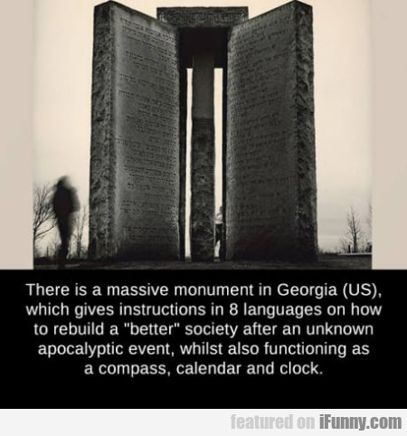 There Is A Massive Monument In Georgia Us Which...