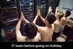 It Team Before Going On Holiday