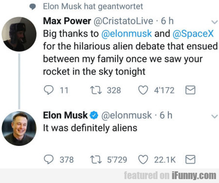 Big Thanks To Elonmusk And Spacex For The...