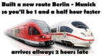 Built A New Route Berlin - Munich So You'll Be...