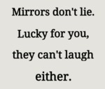 Mirrors Don't Lie. Lucky For You They Can't...