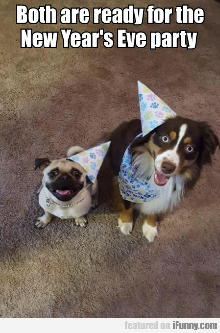 Both Are Ready For The New Year's Eve Party
