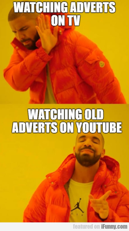 Watching Adverts On Tv - Watching Old...