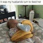 It Was My Husbands Turn To Feed Her...