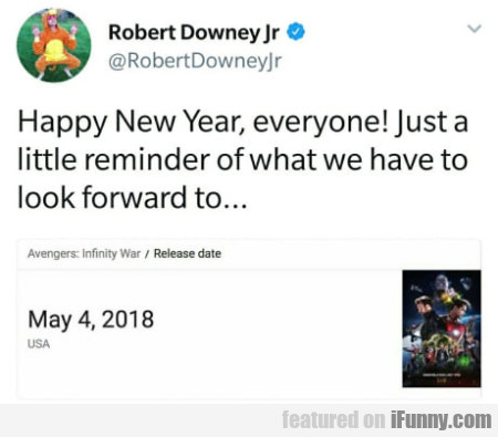 Happy New Year, Everyone! Just A Little Reminder..