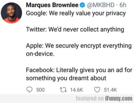 Google: We Really Value Your Privacy - Apple...