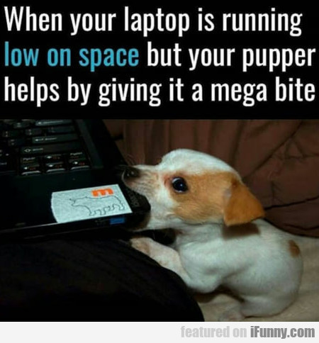 When your laptop is running low on space but...
