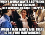 When A Woman Wants A Boyfriend There Are Dozens...