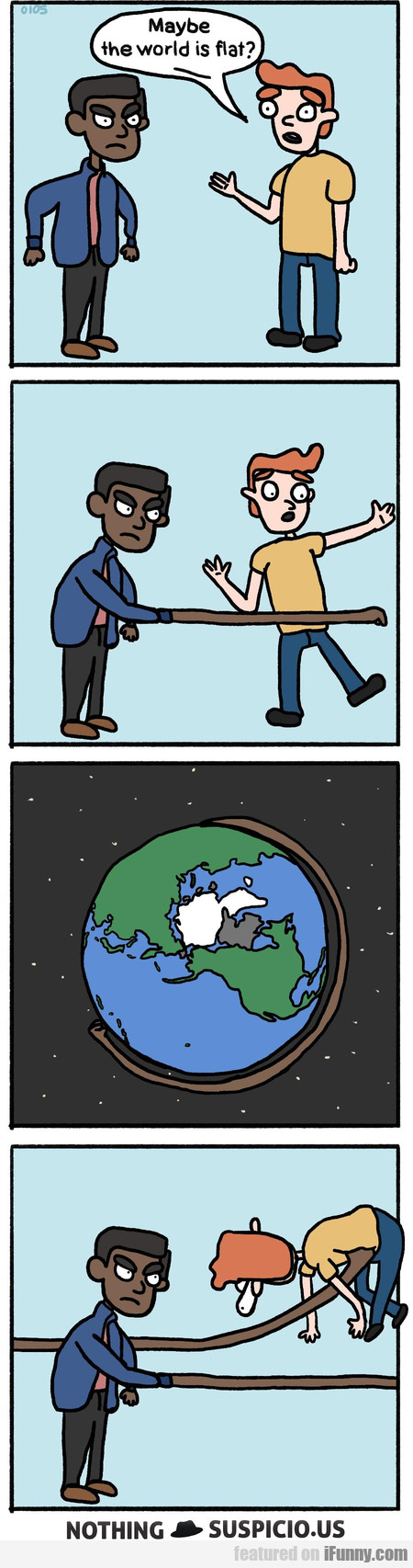 Maybe The World Is Flat?