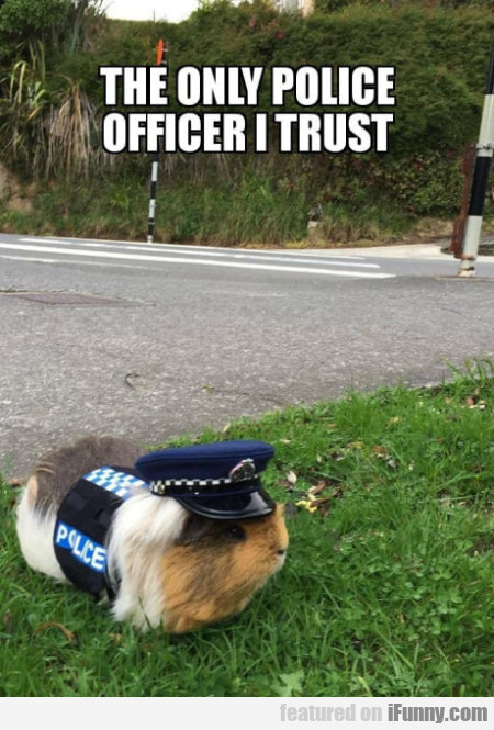 The only police officer I trust