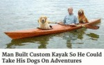 Man Built Custom Kayak So He Could Take His Dogs
