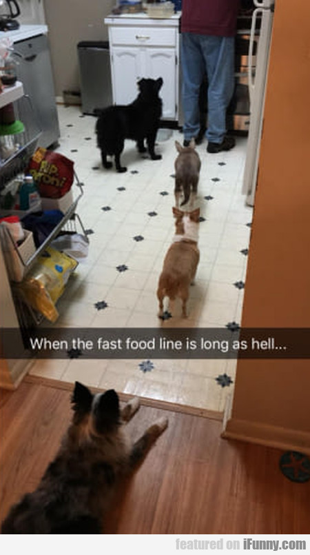 When the fast food line is long as hell...