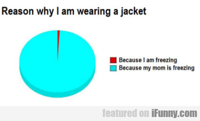 Reason Why I Am Wearing A Jacket - Because...