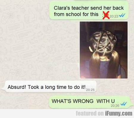 Clara's Teacher Send Her Back From School For This