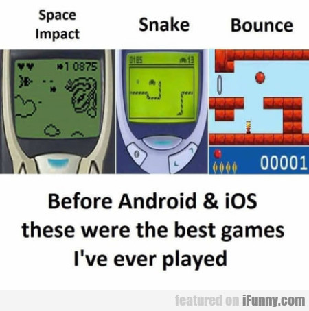 Before Android & Ios These Were The Best Games...