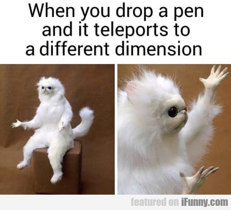 When You Drop A Pen It Teleports To A Different...