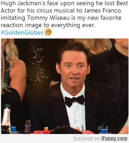 Hugh Jackman's Face Upon Seeing He Lost Best Actor