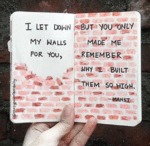 I Let Down My Walls For You But You Only...