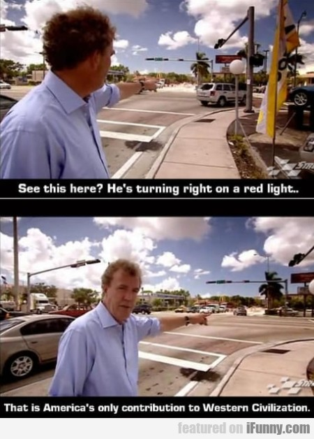 See this here - He's turning right on a red...