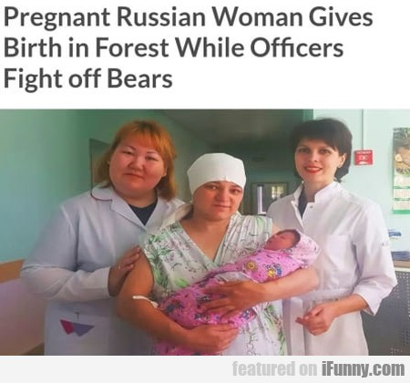 Pregnant Russian Woman Gives Birth in...
