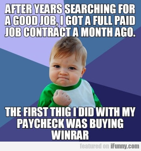 After Years Searching For A Good Job, I Got...