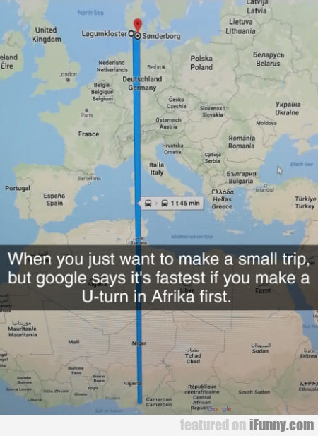 When You Just Want To Make A Small Trip, But...