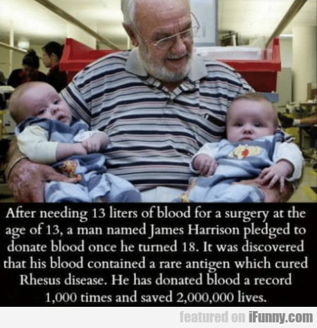 After needing 13 liters of blood for a surgery...