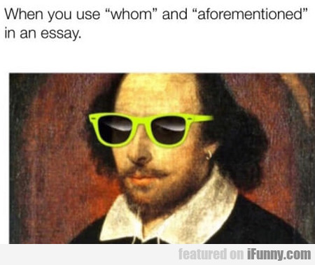 When You Use Whom And Aforementioned In An Essay..