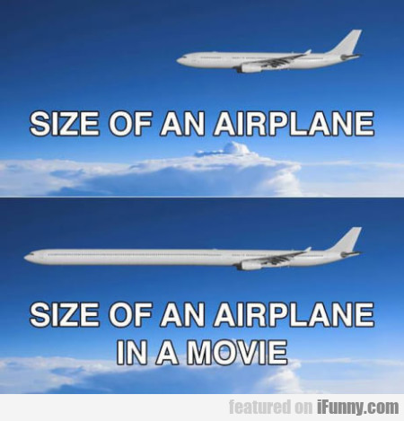 Size Of An Airplane. Size Of An Airplane In A...