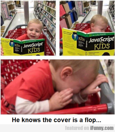 He knows the cover is a flop