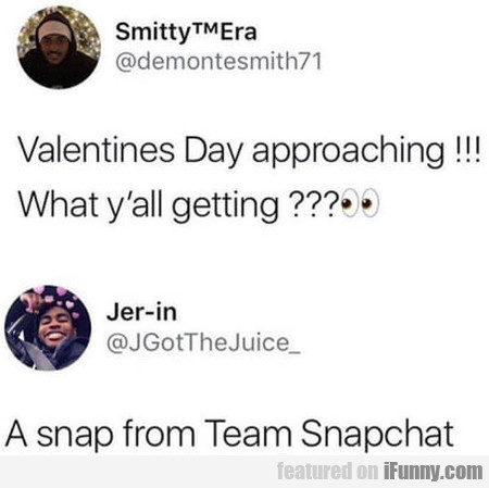 Valentines Day Approaching!!! What Y'all Getting??