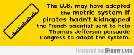The U.s. May Have Adopted The Metric System If...