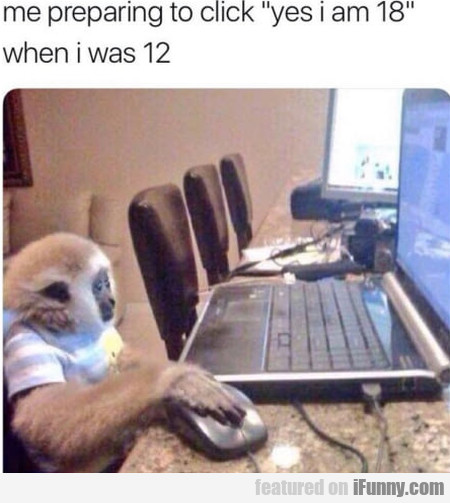 Me Preparing To Click ' Yes I Am 18 '...