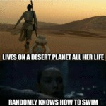 Lives On A Desert Planet All Her Life - Randomly..
