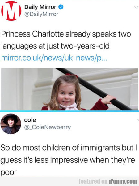 Princess Charlotte Already Speaks Two Languages...